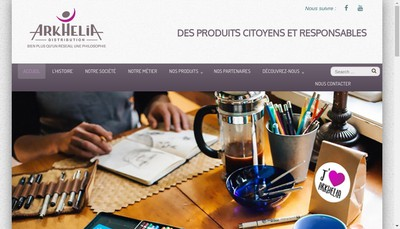 Site internet de Arkhelia Distribution