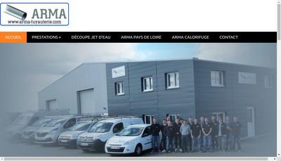 Site internet de Arma Tuyauterie
