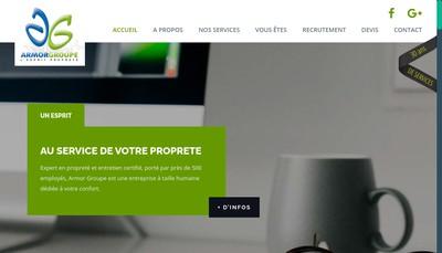 Site internet de Armor Nettoyage