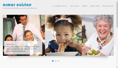 Site internet de Armor Cuisine