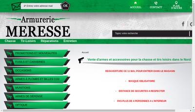 Site internet de Armurerie Meresse
