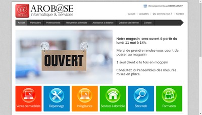 Site internet de Arobase Informatique
