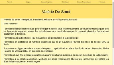 Site internet de Valerie de Smet