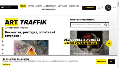 Site internet de Art Traffik