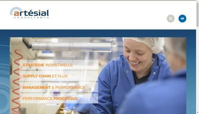 Site internet de Artesial Consultants Accel Performance Consultants Artesial Formation