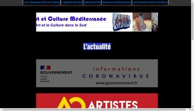 Site internet de Art et Culture Mediterranee
