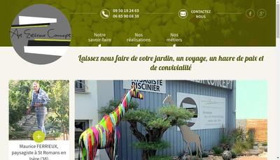 Site internet de Art Exterieur Concept