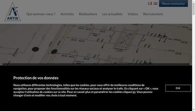 Site internet de Artis SARL