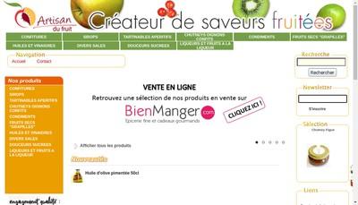 Site internet de Artisan du Fruit
