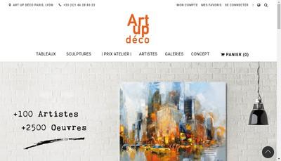 Site internet de Art Up Deco