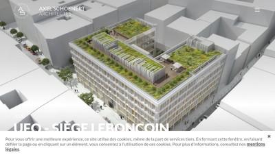 Site internet de Axel Schoenert Architectes