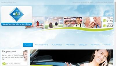 Site internet de ASA Assurances