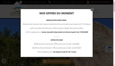 Site internet de Les Toits de Santa Giulia