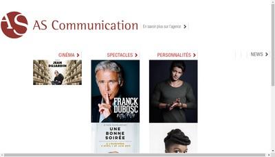 Site internet de As Communication