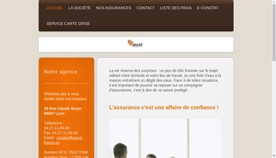 Site internet de Ascot Insurance - St Louis Insurance