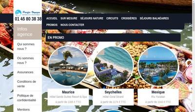 Site internet de Pacific Voyages