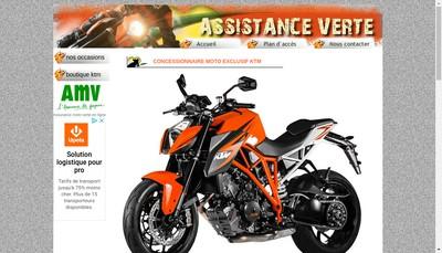 Site internet de Assistance Verte Espace Motos