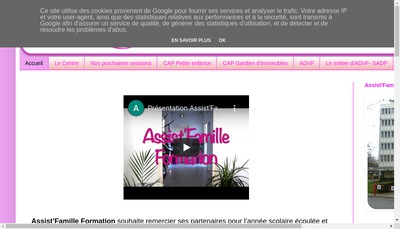 Site internet de Assist'Famille Formation