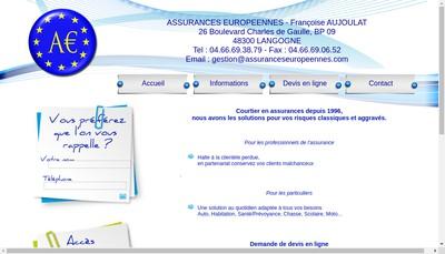 Site internet de SARL Assurance Europeennes