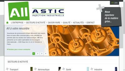 Site internet de Astic Injection Industrielle SA