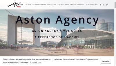 Site internet de Aston Agency