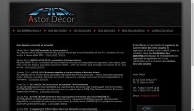 Site internet de Astor Decor