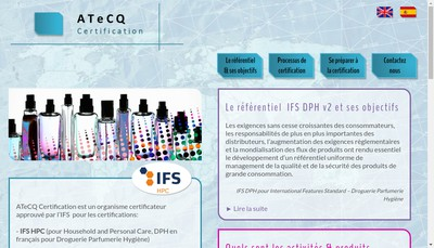 Site internet de Atecq Certification