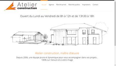 Site internet de Atelier Construction