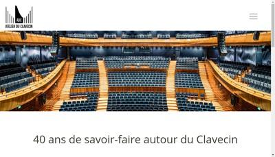 Site internet de Atelier du Clavecin