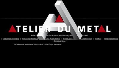 Site internet de L'Atelier du Metal