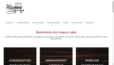 Site internet de Philippe Allemand Restaur Creat