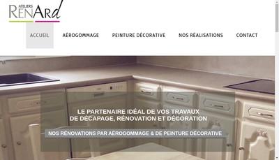 Site internet de Ateliers Renard