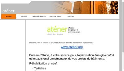 Site internet de Atener