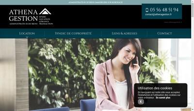 Site internet de Athena-Gestion