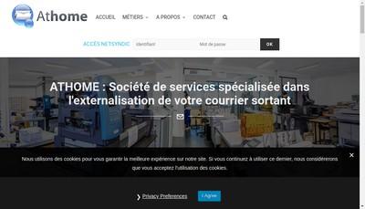 Site internet de Athome Lyon