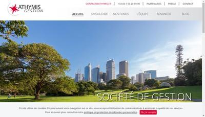 Site internet de Athymis Gestion