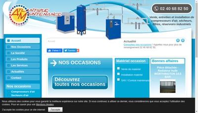 Site internet de Atlantique Maintenance