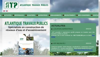 Site internet de Atlantique Travaux Publics