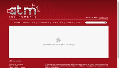 Site internet de ATM Instruments