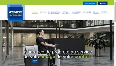 Site internet de Atmos Nantes Proprete