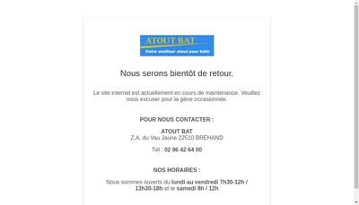 Site internet de Atout-Bat