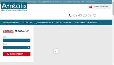 Site internet de Atrealis Promotion