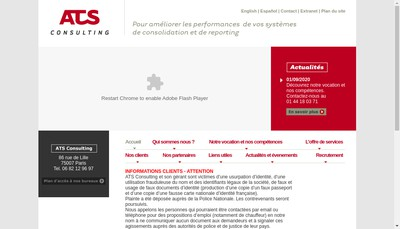 Site internet de ATS Consulting