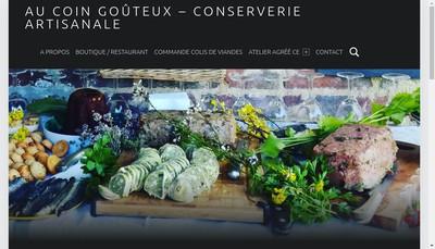 Site internet de Au Coin Gouteux