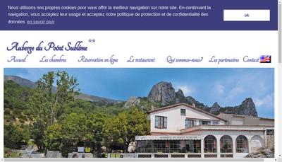 Site internet de Auberge du Point Sublime