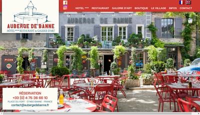 Site internet de Auberge de Banne SARL