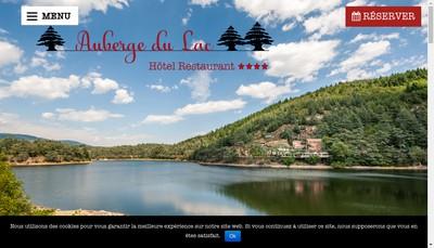 Site internet de Auberge du Lac