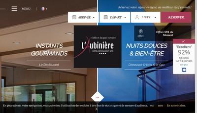 Site internet de L'Aubiniere