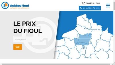 Site internet de Aubins Fioul