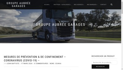 Site internet de Aubree Garages